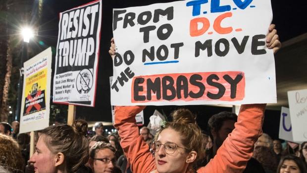 tel-aviv-embassy-protest-agaisnt-trump