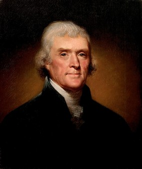 Thomas Jefferson by Rembrandt Peale, 1