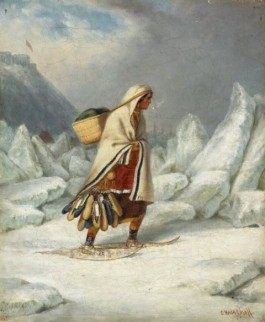 Mocassin Seller Crossing the St. Lawrence River (Photo Credid: Wikipedia)