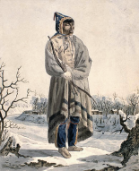 Sauteau Indian by Peter Ridinsbacher, 1822 (Wikipedia)