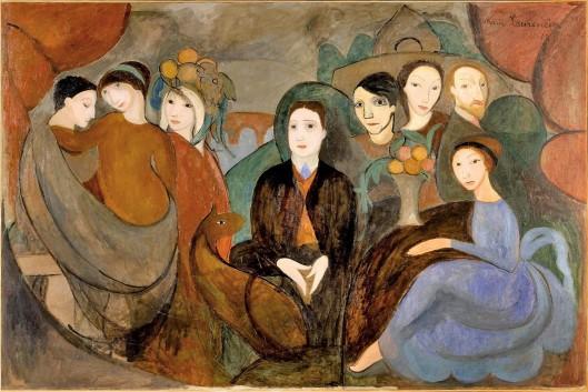 Marie_Laurencin,_1909,_Réunion_à_la_campagne_(Apollinaire_et_ses_amis),_oil_on_canvas,_130_x_194_cm,_Musée_Picasso,_Paris (1)