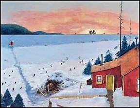 The Section Foreman's House by William Kurelek, 1966