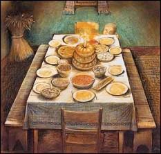 Ukrainian Christmas Eve by William Kurelek, 1973