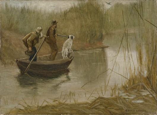 Leduc-Chasse-aux-canards-par-un-matin-brumeux2-Huile-sur-toile-11-x-15-85-000