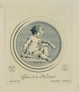 Génie de la Musique by Boucher, Pompadour, Guay (Wiki2.org.)