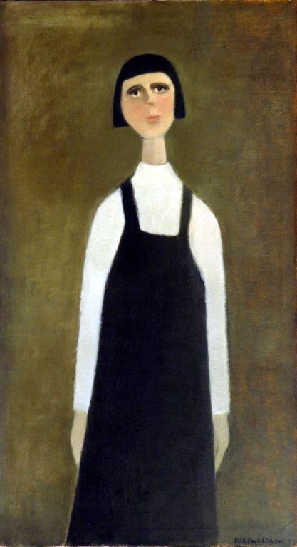 Jeune-fille-1957-Huile-41-x-22