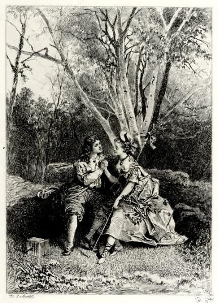 Mélicerte par Lalauze (Document iconographique)