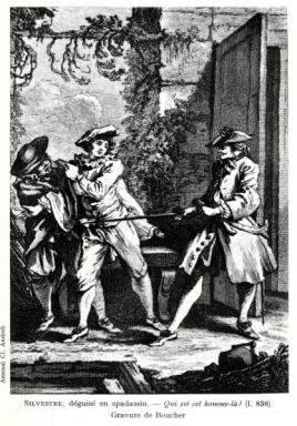 Gravure Boucher (Les Fourberies de Scapin)