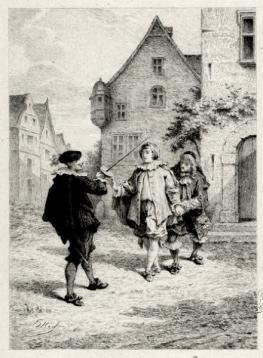 Gravure Edmond Hédouin (Les Fourberies de Scapin)