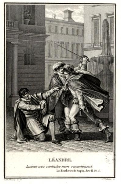 Les fourberies de Scapin par Moreau le Jeune