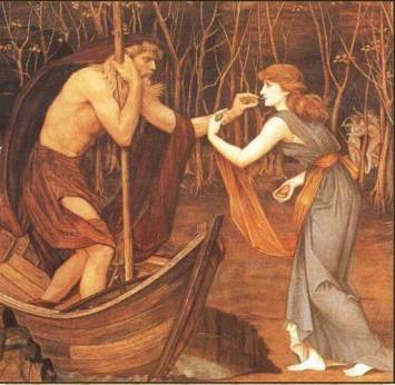 Psyche and Charon by John Roddam Spencer Stanhope, 1883 (WikiArt.org)