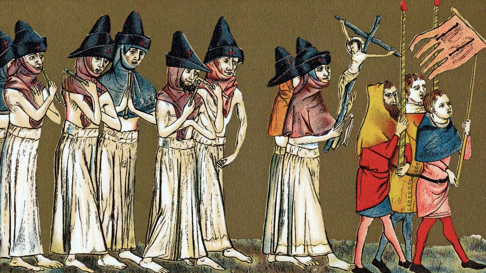 Flagellants-Black-Death-Netherlands-atonement-sins-God